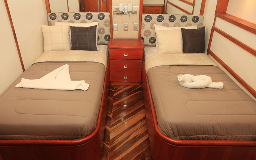 Croisière plongée Galapagos Humboldt, cabine twin