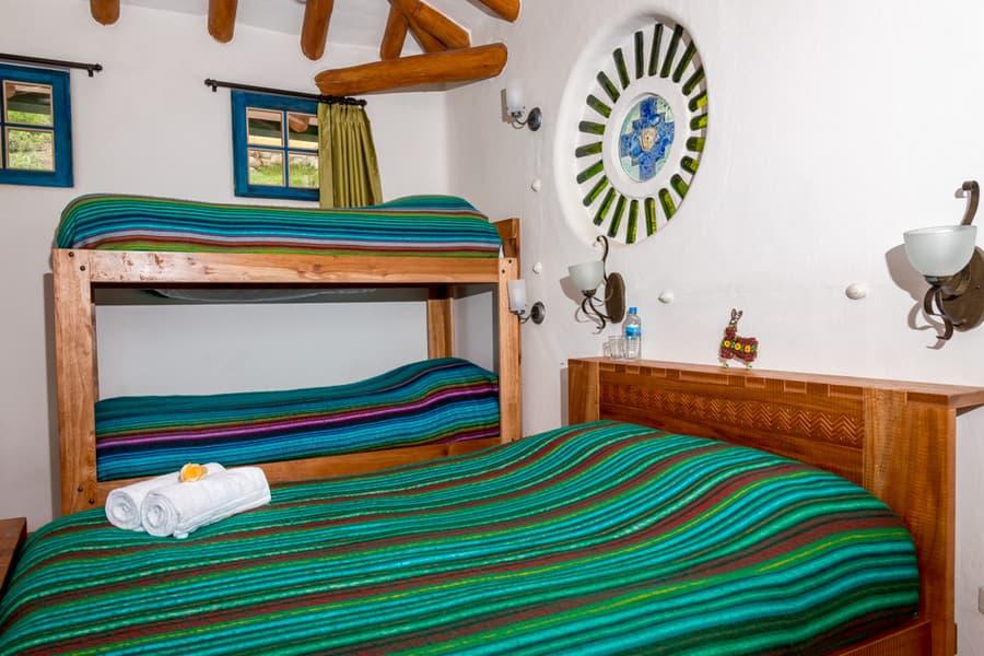 Hôtel Lodge Llullu Llama, Isinlivi près de la lagune Quilotoa, Equateur, chambre familiale