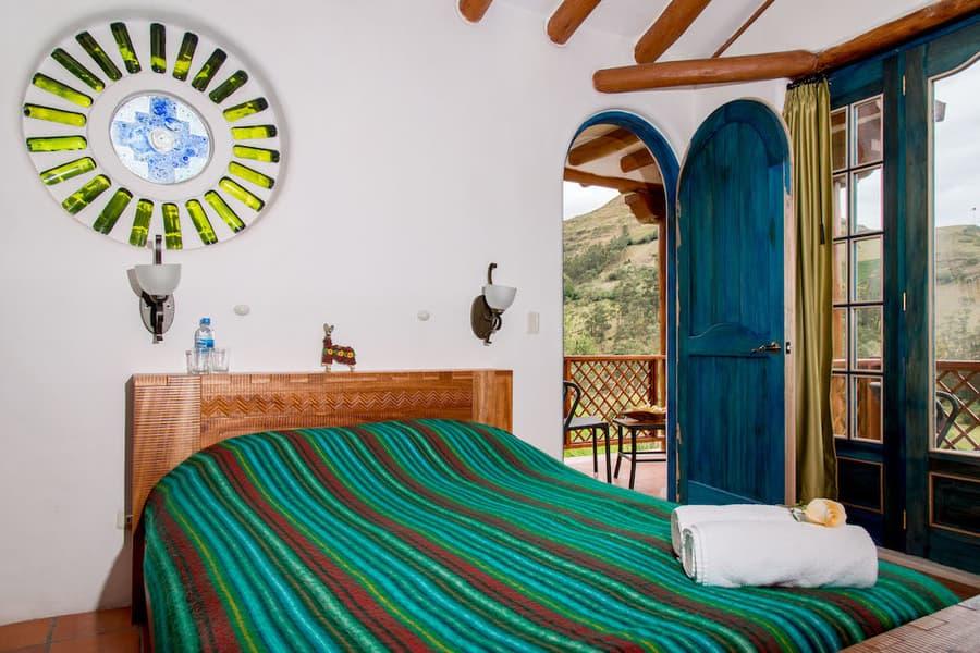 Hôtel Lodge Llullu Llama, Isinlivi près de la lagune Quilotoa, Equateur, chambre double matrimoniale