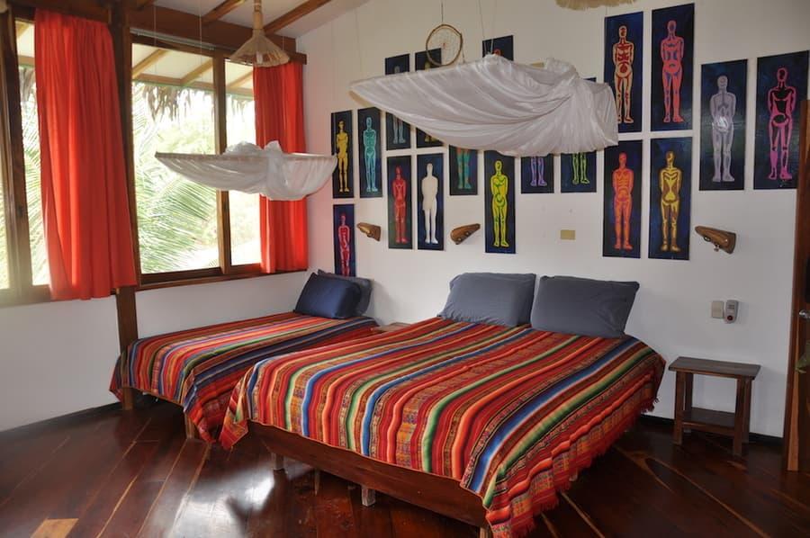 Lodge Mandala, Puerto Lopez, côte Pacifique d'Equateur, cabane familiale