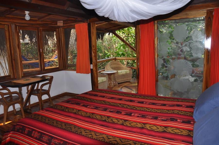 Lodge Mandala, Puerto Lopez, côte Pacifique d'Equateur, chambre avec terrasse