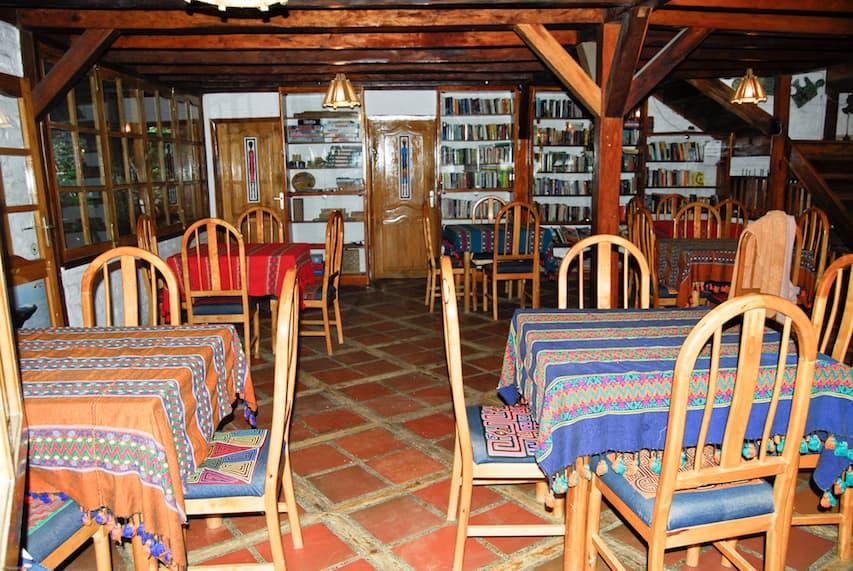 Lodge Mandala, Puerto Lopez, côte Pacifique d'Equateur, restaurant