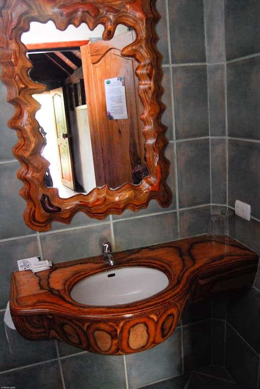 Lodge Mandala, Puerto Lopez, côte Pacifique d'Equateur, salle de bain