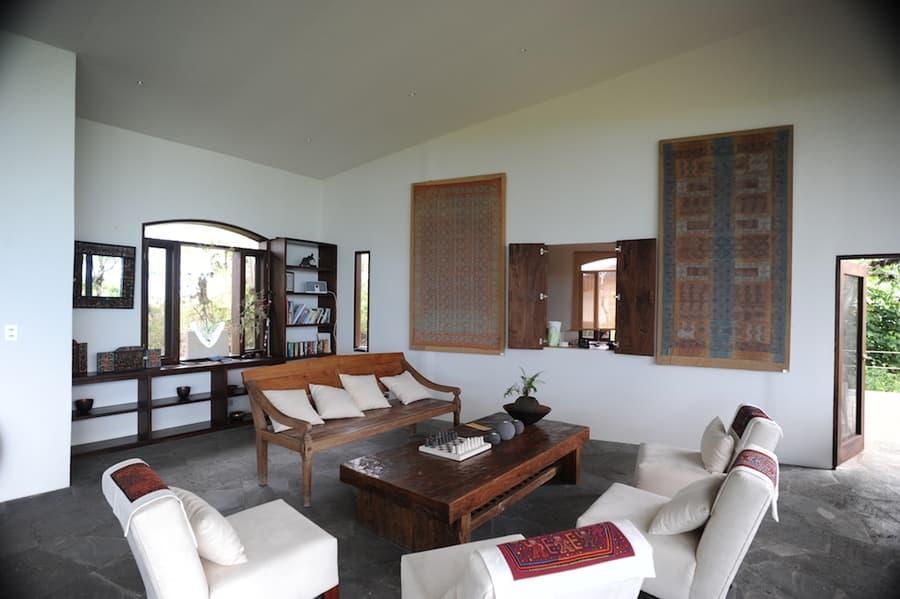 Lodge Safari Camp, Île Santa Cruz, Galapagos, Equateur, lobby et réception