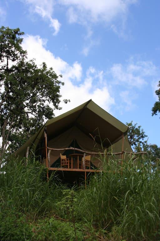 Lodge Safari Camp, Île Santa Cruz, Galapagos, Equateur, extérieur d'une tente de luxe
