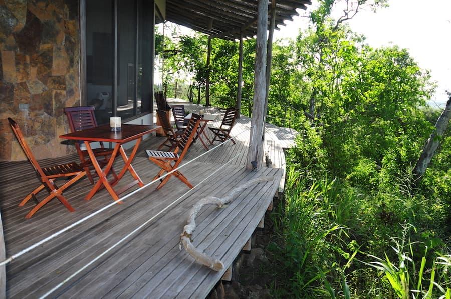 Lodge Safari Camp, Île Santa Cruz, Galapagos, Equateur, terrasse