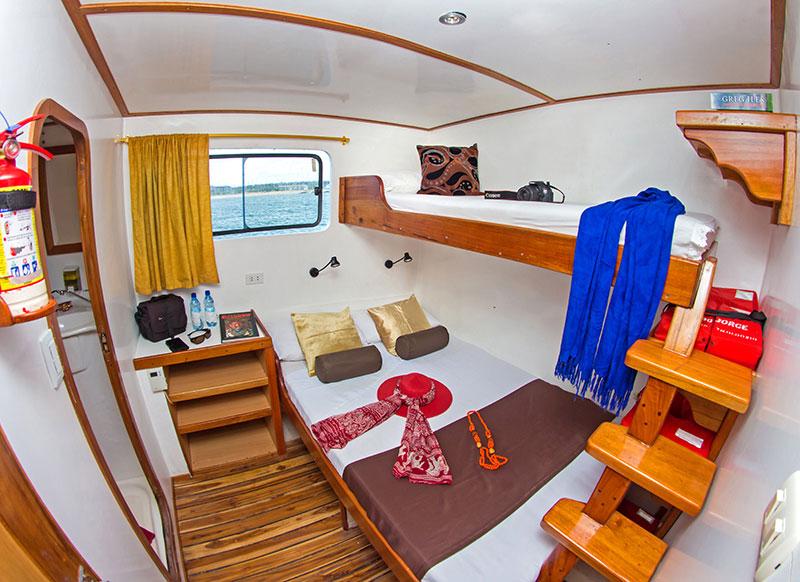 Croisière plongée Lonesome George, cabine triple