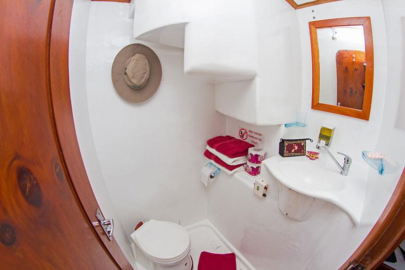 Croisière plongée Lonesome George, salle de bain