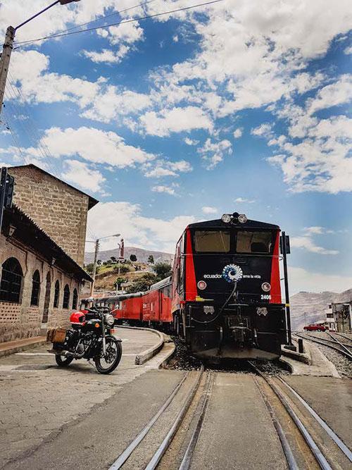 Voyage moto en Équateur, train des Andes