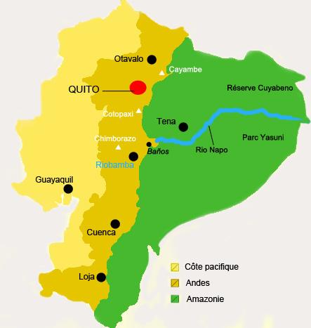 Amazonie d'Equateur: carte