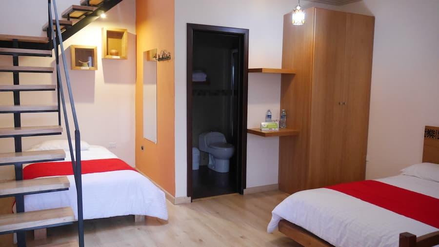 Hôtel Las Culturas, à Cuenca, Equateur, chambre avec mezzanine