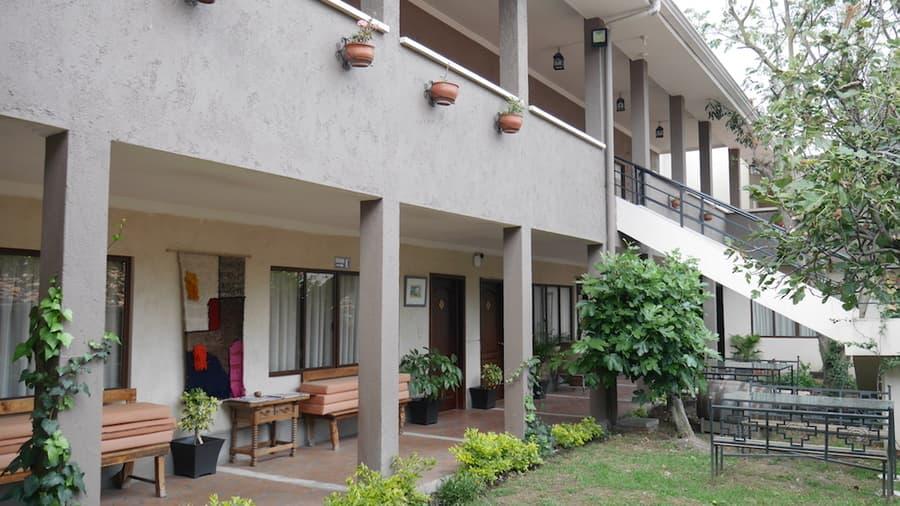 Hôtel Las Culturas, à Cuenca, Equateur, patio extérieur
