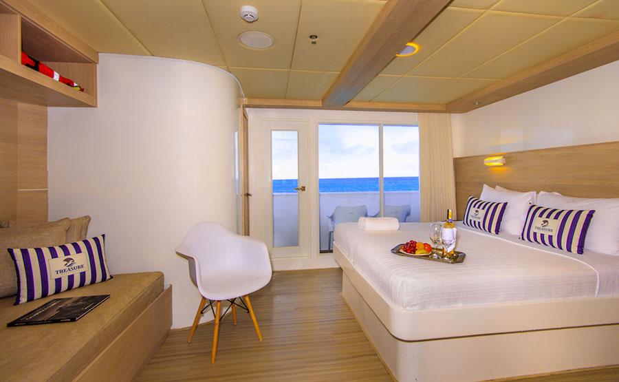 Croisière Treasure of Galapagos, cabine matrimoniale