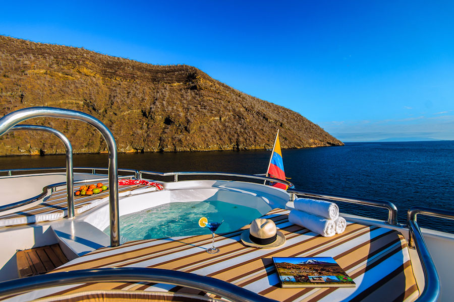 Croisière Treasure of Galapagos, jacuzzi
