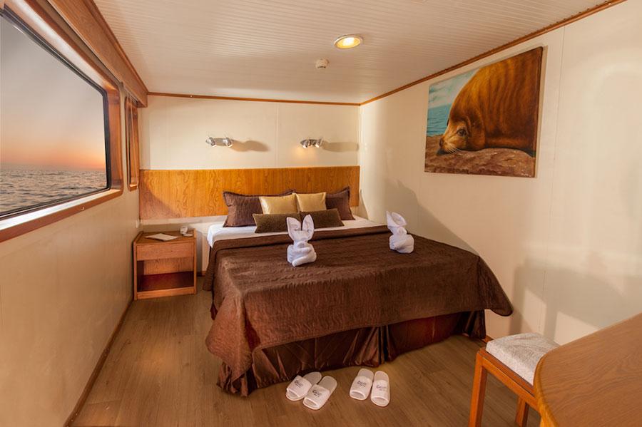 Croisière Galapagos Galaxy, cabine matrimoniale