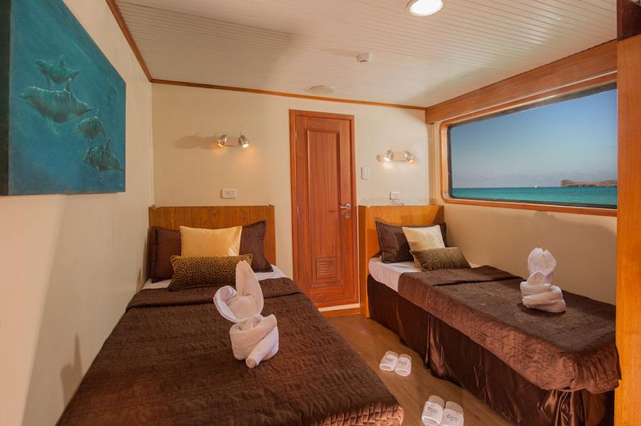 Croisière Galapagos Galaxy, cabine twin
