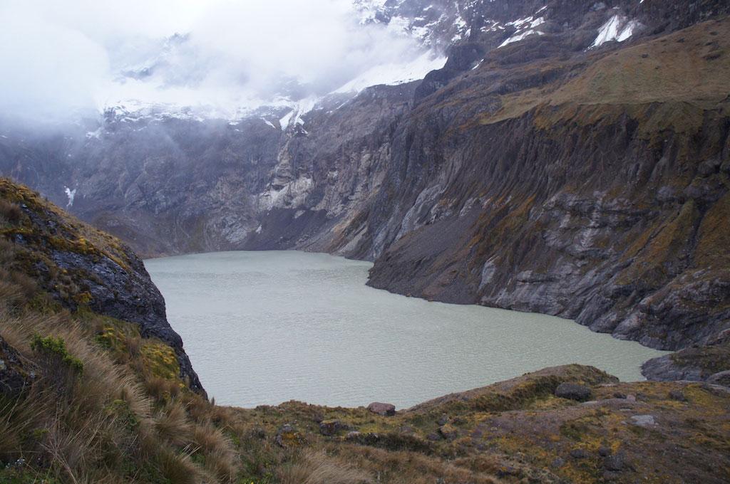 Trekking Altar en Equateur: lagune