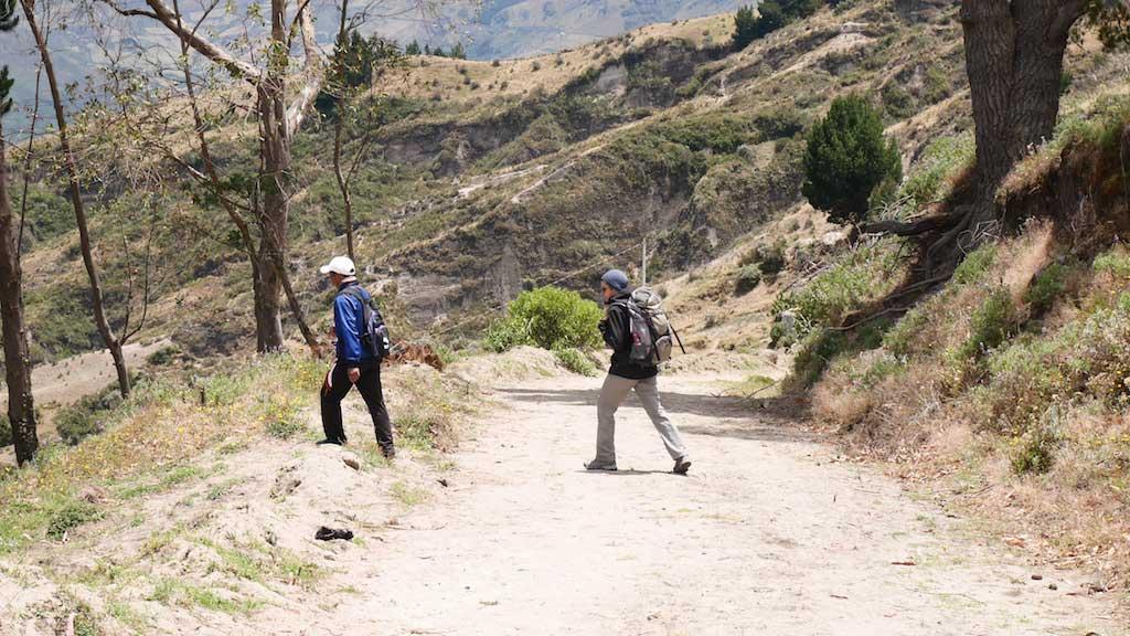 Trek en Equateur: début vers Chugchilan