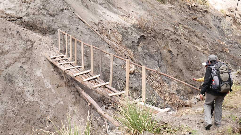 Treken Equateur: pont vers Chugchilan