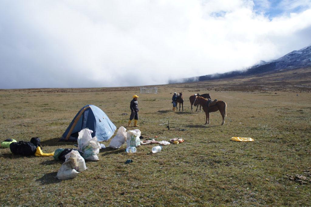 Trekking du Condor en Equateur: campement