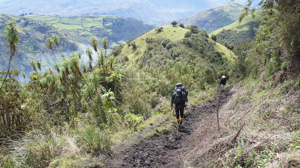 Trek Altar en Equateur: chemin