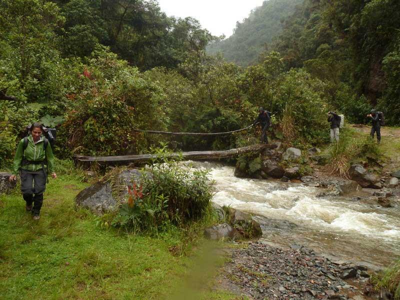 Trek Lloa-Mindo en Equateur: pont