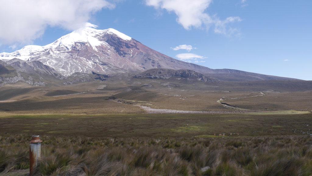 Trek des Vigognes en Equateur: vue volcan