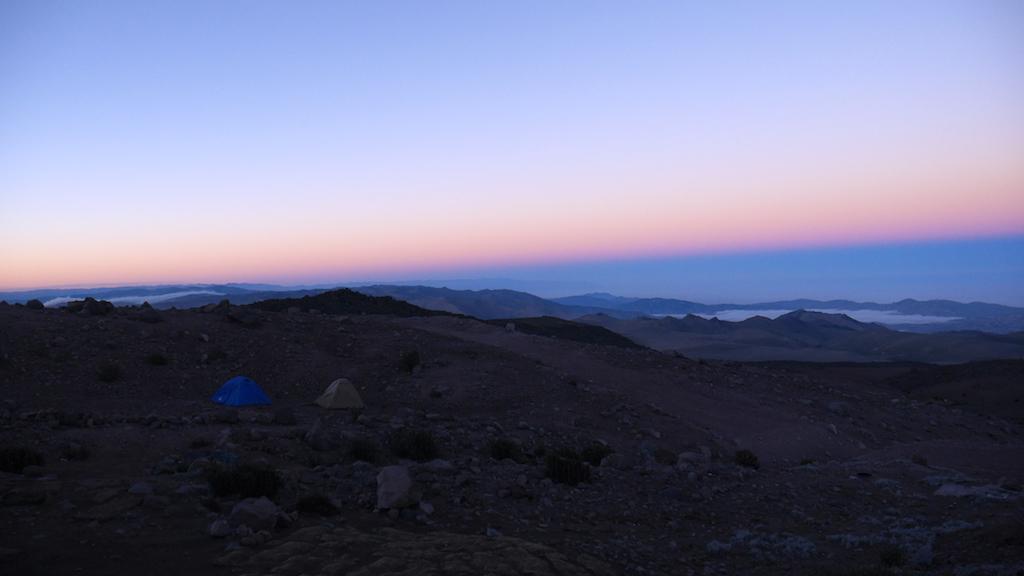Trekking des Vigognes en Equateur: lever soleil