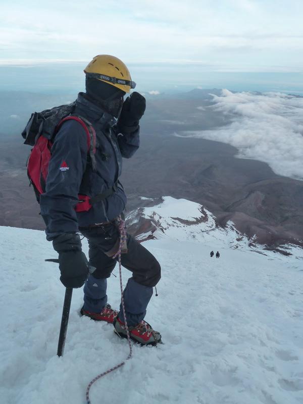 Volcan Chimborazo: descente