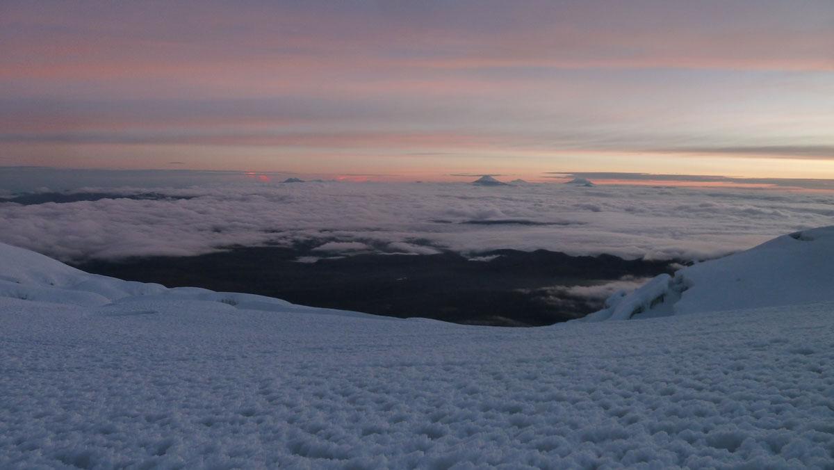 Volcan Chimborazo: lever de soleil