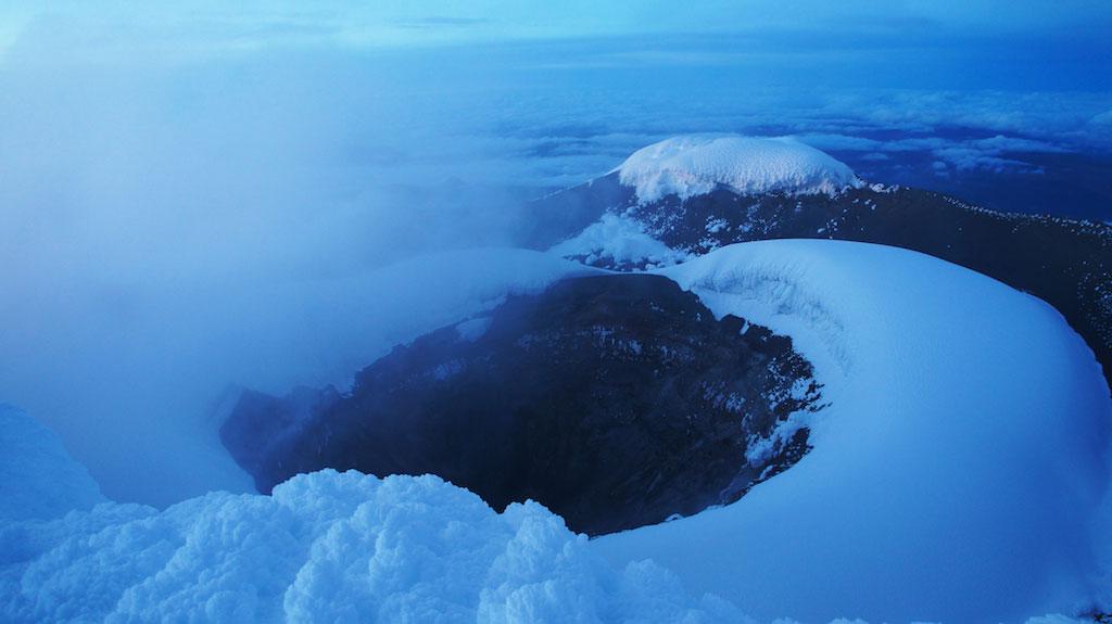 Volcan Cotopaxi: cratère au sommet