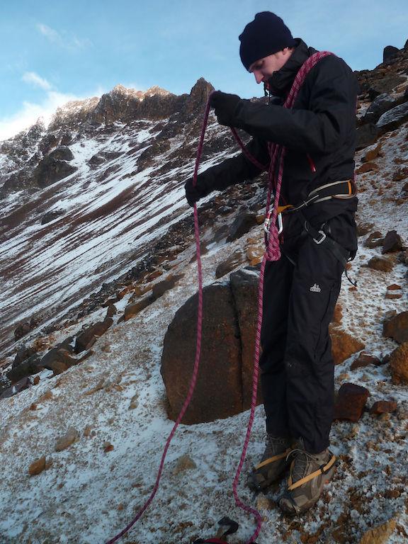 Volcan Iliniza Sur: cordes et harnais