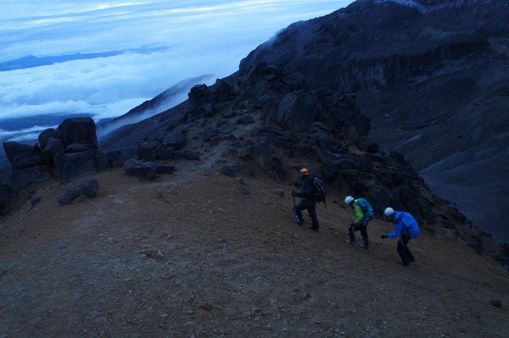 Volcan Iliniza Sur: début de l'ascension