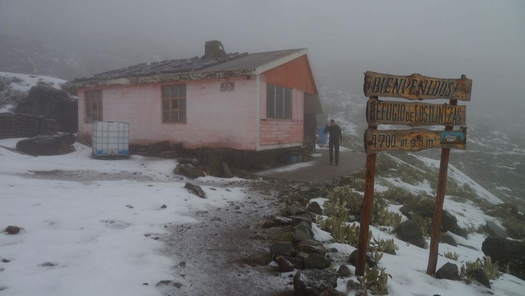 Volcans Ilinizas: refuge avant l'ascension