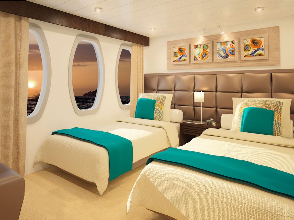 Croisière Alya Galapagos, cabine twin
