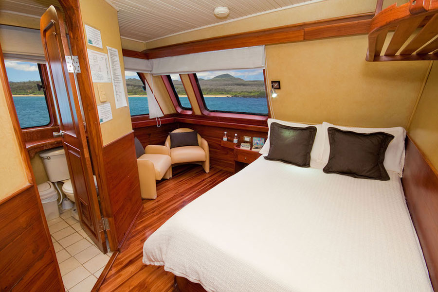 Croisière Galapagos Galaven, cabine matrimoniale