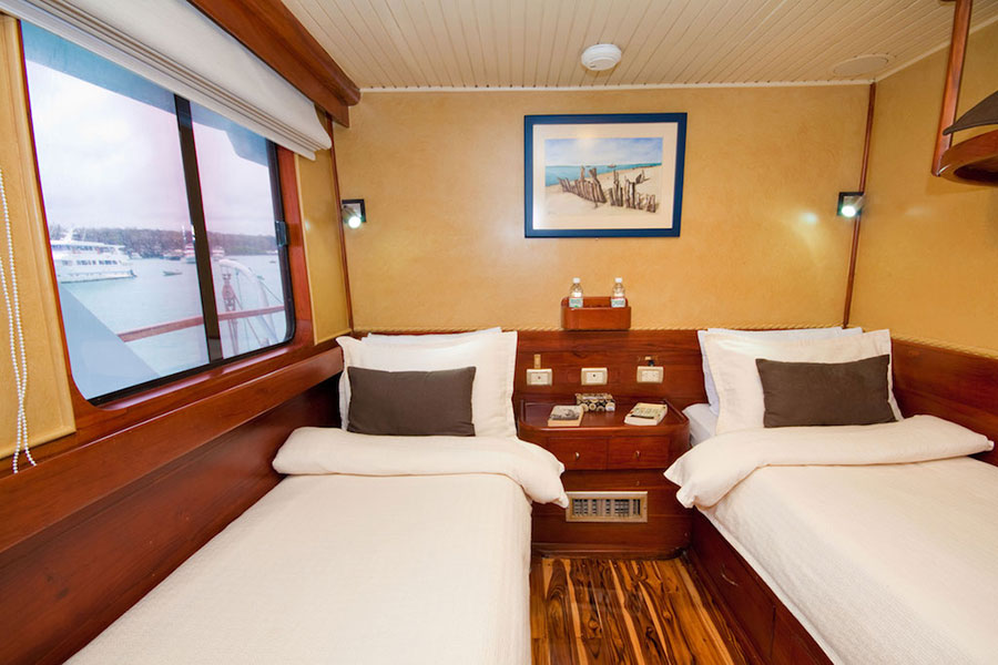 Croisière Galapagos Galaven, cabine twin