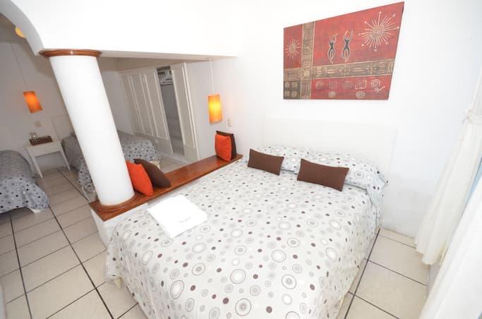 Hôtel Casa Opuntia, Île San Cristobal, Galapagos, Equateur, chambre pour famille