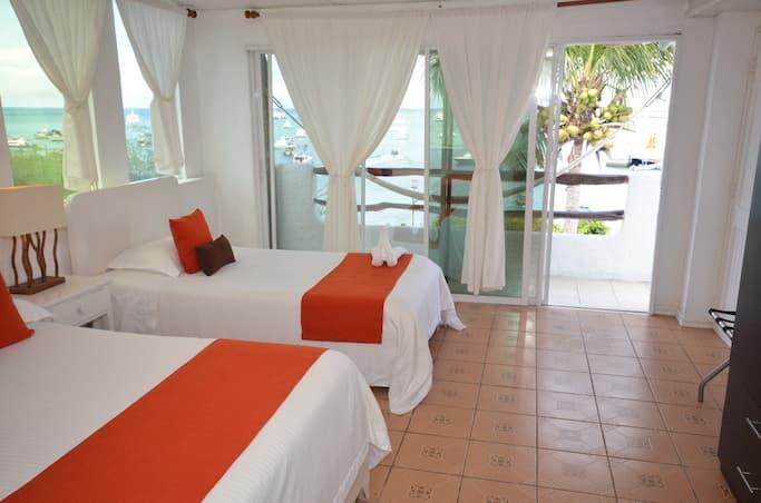 Hôtel Casa Opuntia, Île San Cristobal, Galapagos, Equateur, chambre double Ocean Front