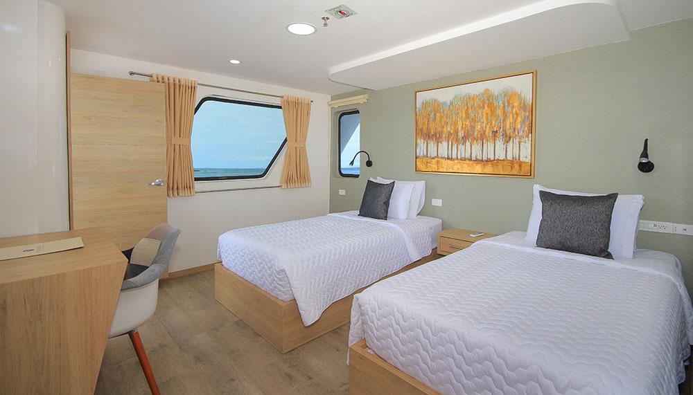 Croisière Galapagos Grand Queen Beatriz, cabine standard twin
