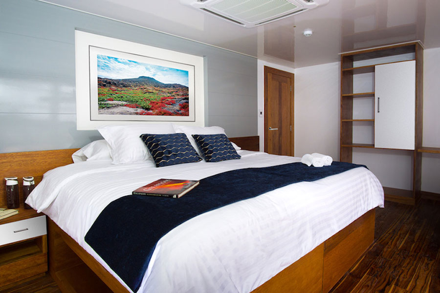 Croisière Infinity Galapagos, cabine matrimoniale