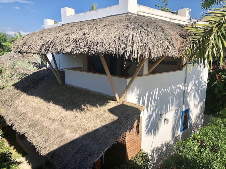 Lodge Nautilus, Puerto Lopez, côte Pacifique d'Equateur, terrasse du loft