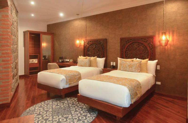 Chambre Luxury (twin Super King) de l'hôtel Otavalo