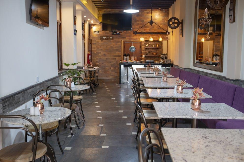 Restaurant de l'Hôtel Colonial San Agustin à Quito