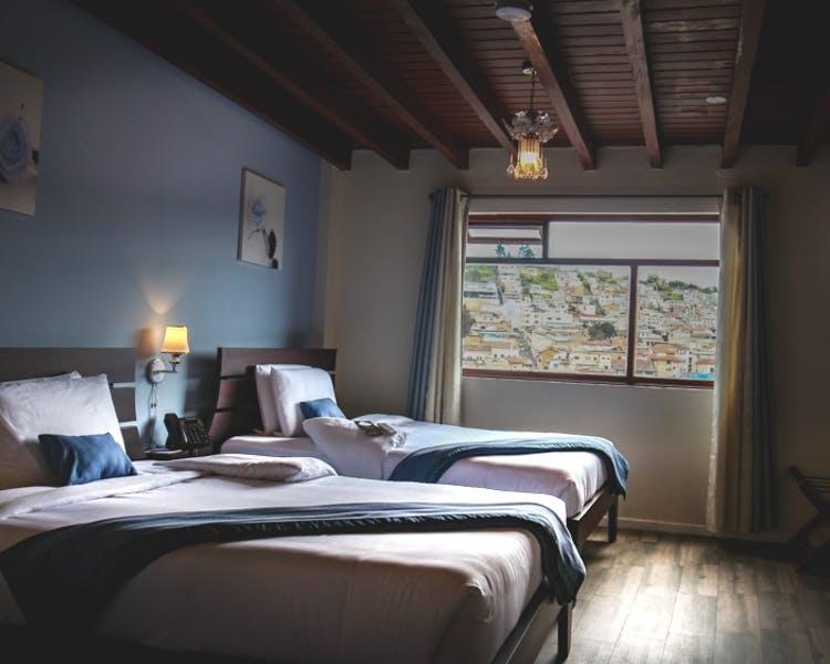 Chambre double de l'Hôtel Colonial San Agustin à Quito