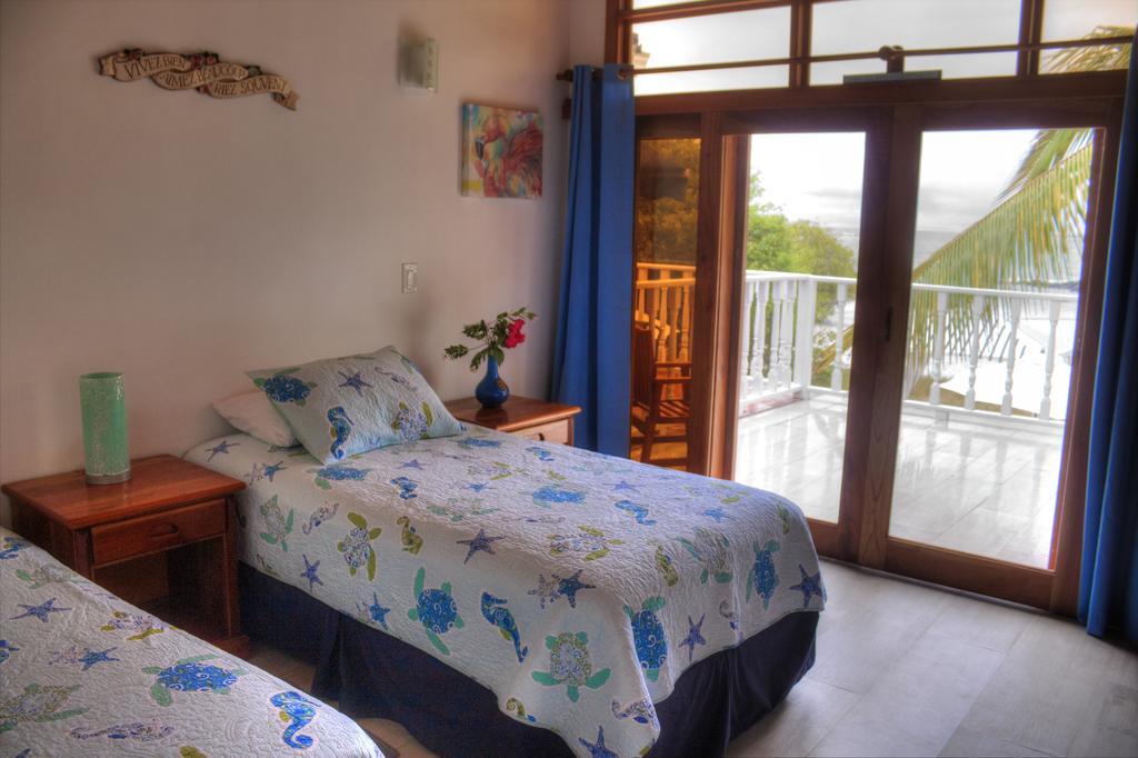 Chambre double deluxe vue sur mer de l'hôtel Isabela Beach House