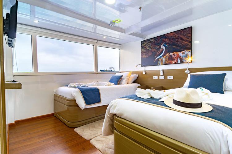 Croisière Galapagos Calipso, cabine twin