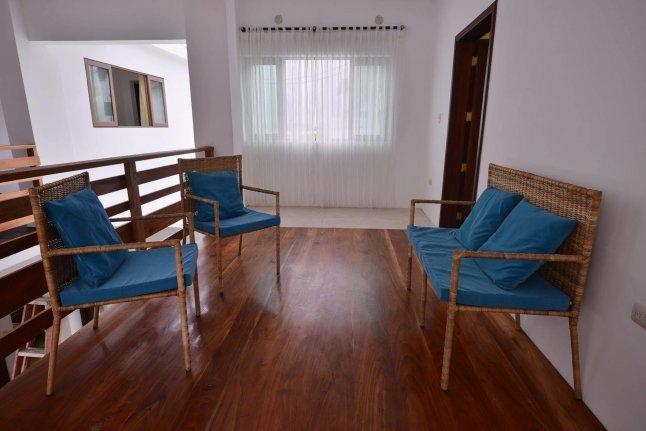 Hôtel Cormorant Beach House, sur l'île Isabela, aux Galapagos, Equateur, intérieur de l'hôtel