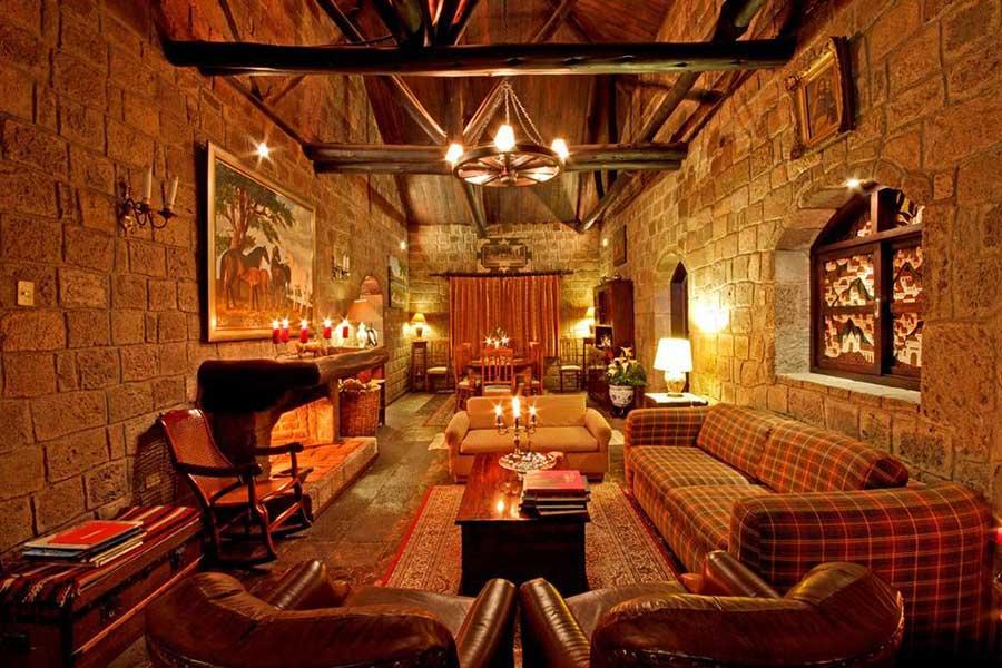 Salon principal de l'Hacienda Hato Verde