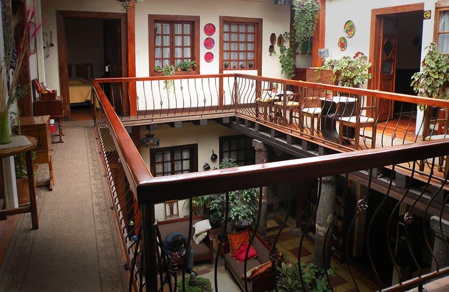 Hôtel Portal de Cantuña à Quito, Equateur, premier étage